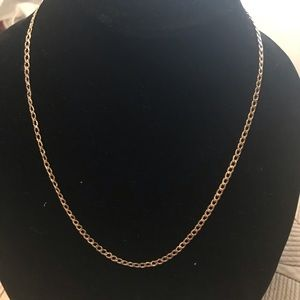 Brand new solid 4 MM Cuban Curb chain 14 k gold.